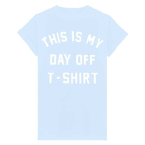 day off t-shirt baby blauw