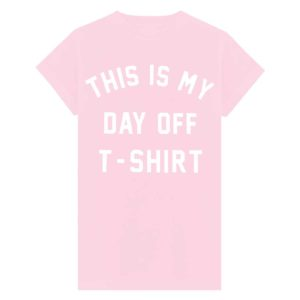 day off t-shirt baby roze