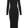 turtle neck dress black