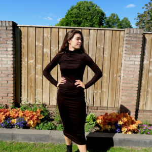 turtle neck dress zwart