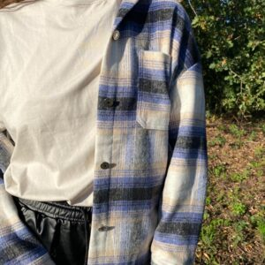Checkered blouse blauw
