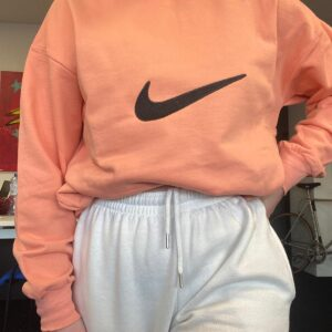 vintage sweater peach