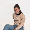 vintage sweater beige