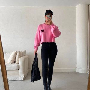 cropped sweater donna roze